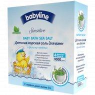Детская морская соль для ванн с целебными травами,1000г (4х250г).