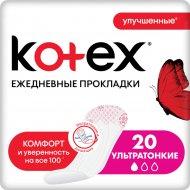 Ежедневные прокладки «Kotex» суперслим, 20 шт.