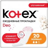 Ежедневные прокладки «Kotex» део нормал, 20 шт.