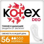 Ежедневные прокладки «Kotex» део нормал, 56 шт.