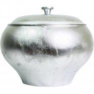 Горшок печной алюминиевый литой c крышкой объём 4л.