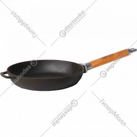 Сковорода чугунная со съёмной ручкой без крышки, 20 см.