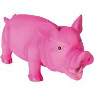 Игрушка из латекса для собаки «Свинка» со звуком, 17 см.