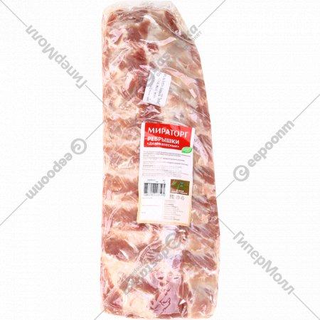 Полуфабрикат мясной ребрышки свинные «Деликатесные» 1 кг., фасовка 1.1-1.4 кг