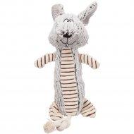 Игрушка для собак «Кролик» со звуком, полиэстер, 35 см.