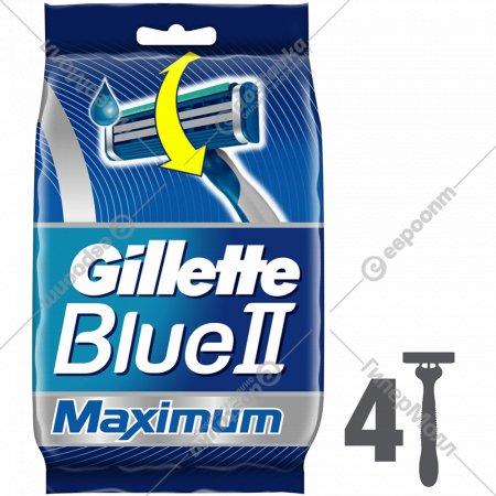 Одноразовая мужская бритва «Gillette» Blue2 Max, 4 шт.