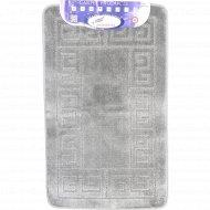 Набор ковриков для ванной комнаты, 60x100+60x50 см, серый.