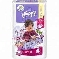 Подгузники «Bella baby» Happy размер 5 junior (12-25 кг) 58 шт.