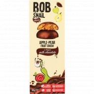 Фруктовый снек «Bob snail» яблоко и груша в молочном шоколаде, 30 г
