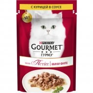 Корм для кошек «Gourmet» Mon Petit с курицей, 50 г.