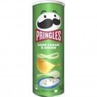 Чипсы «Pringles» со вкусом сметаны и лука, 165 г.