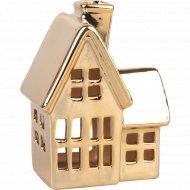 Подсвечник керамический «Зимний домик» 4 Х 8 Х 11 см.