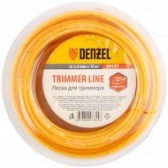 Леска «Denzel» для триммера квадратная, 2.4 мм х 15м.