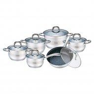 Набор посуды с крышками «Bollire» BR-4004, 12 шт.