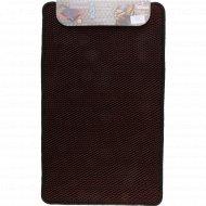 Универсальный коврик «Кольчуга» 45x75 см, бордовый.