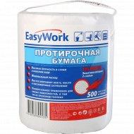Бумага протирочная «Easy Work» двухслойная, рулон, 500 листов.