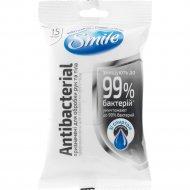 Салфетки влажные «Smile» антибактериальные с Д-пантенолом, 15 шт.