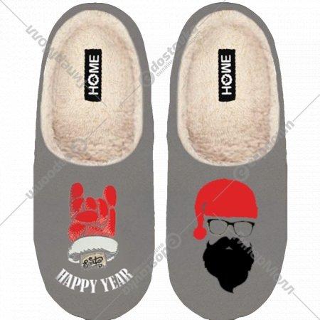 Туфли домашние мужские «Санта» светло серые, размер 40-41.