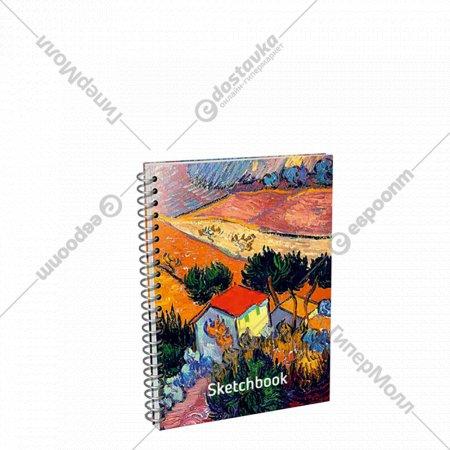 Скетчбук «Ван Гог. Пейзаж с домом и пахарем» 01689.