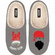 Туфли домашние мужские «Санта» светло серые, размер 42-43.