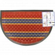 Коврик придверный «Lux Multicolor» 40x60 см, полукруглый, бордовый.