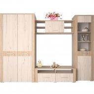 Комплект мебели для спальни «Интерлиния» Коламбия-1, дуб сонома/дуб белый