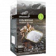 Соль морская пищевая «Organico» L крупная, 500 г.