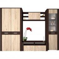 Комплект мебели для спальни «Интерлиния» Коламбия-1, дуб венге/дуб серый