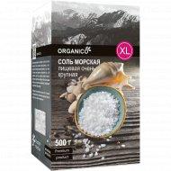 Соль морская пищевая «Organico» XL очень крупная, 500 г.