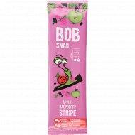 Фруктово-ягодная полоска «Bob snail» яблочно-малиновая, 14 г