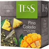 Чай зелёный «Tess» Pina Colada манго и ананас, 20 пакетиков.