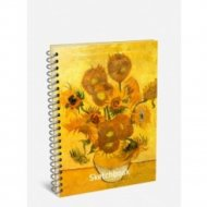 Скетчбук «Ван Гог. Подсолнухи» 100 страниц, 03324.