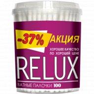 Ватные палочки «Relux» цилиндр, 100 шт.