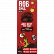 Фруктово-ягодный снек «Bob snail» яблоко и вишня в шоколаде, 30 г