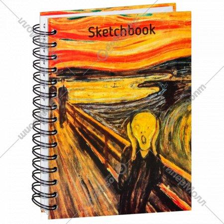 Скетчбук «Мунк. Крик» 100 страниц, 03331.