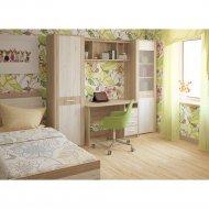 Комплект мебели для спальни «Интерлиния» Коламбия-5, дуб сонома/дуб белый