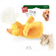 Игрушка для собак «Утка» с пищалкой, 15 см.