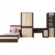 Комплект мебели для спальни «Интерлиния» Коламбия-5, дуб венге/дуб серый