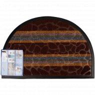 Коврик придверный «Lux Multicolor» 40x60 см, полукруглый, шоколадный.