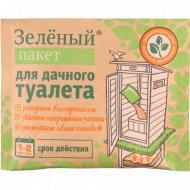 Зеленый пакет для дачного туалета «Доктор-Робик».
