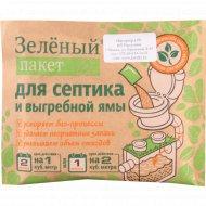 Зеленый пакет для выгребных ям и септиков «Доктор Робик-111».