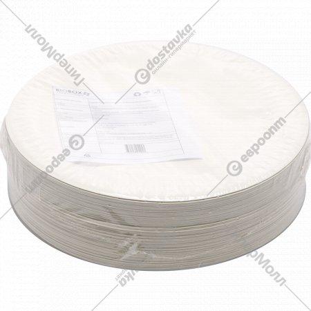 Тарелки бумажные «Snack Plate» белая мелованная, 100 шт.