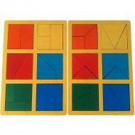 Развивающая игрушка «Мастер Вуд» Сложи квадрат DSK1
