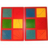 Развивающая игрушка «Мастер Вуд» Сложи квадрат DSK2