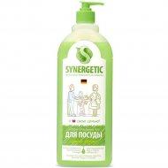 Средство «Synergetic» для мытья посуды, детских игрушек, сочное яблоко, 1 л.