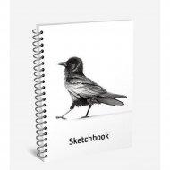 Скетчбук «Ворона» 100 страниц, 03539.