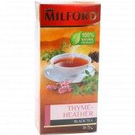 Чай черный «Milford» чабрец-цветки вереска, 20 пакетиков.