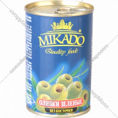 Оливки зеленые «Mikado» без косточки, 300 г.