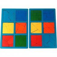 Развивающая игрушка «Мастер Вуд» Сложи квадрат DSK3