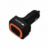 Автомобильное зарядное устройство «Canyon» 4xUSB, CNE-CCA05B.